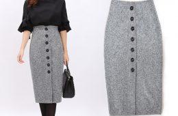 Модная прямая юбка