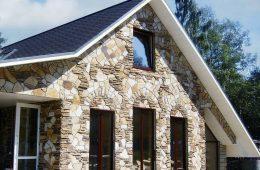 Облицовка фасада дома искусственным камнем