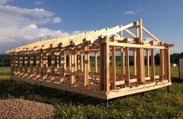 Технология возведения каркасных домов на винтовых сваях