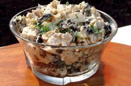 Как приготовить салат из куры с черносливом