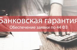 Банковская гарантия 44 ФЗ