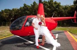 Выездная свадебная церемония: почему не заказать вертолет?